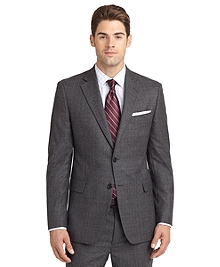 Madison Fit Charcoal Plaid 1818 Suit