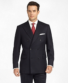 Madison Fit Chalk Stripe Double-Breasted Flannel 1818 Suit