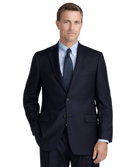 Madison Fit Stripe 1818 Suit Blue