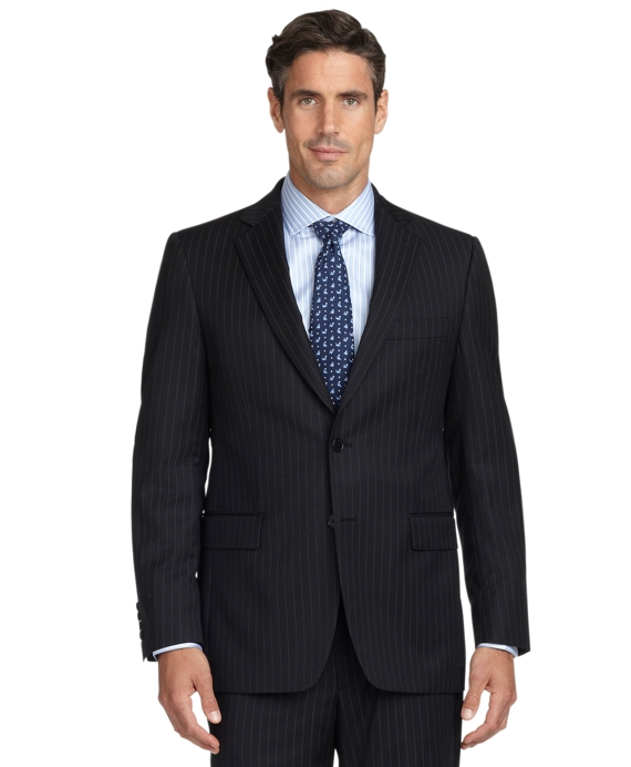 Madison Fit Double Track Stripe 1818 Suit Black
