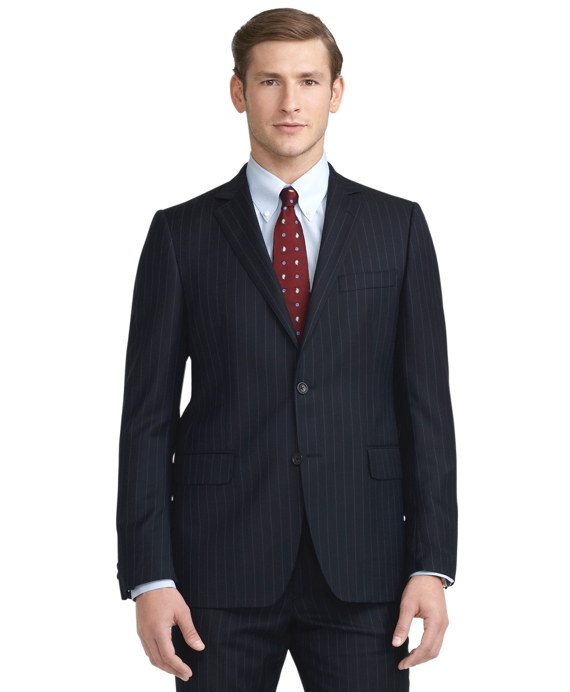 Fitzgerald Fit Wide Stripe 1818 Suit Navy