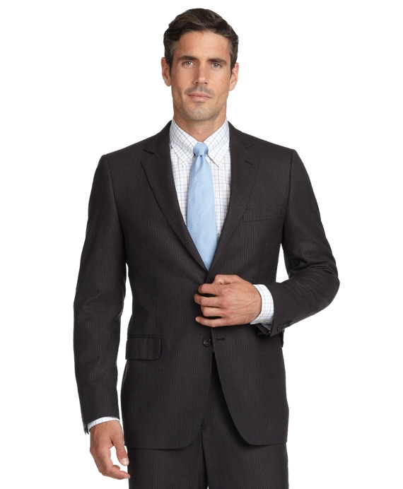 Fitzgerald Fit Mini Stripe 1818 Suit Brown