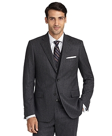 Regent Fit Double Track Stripe Three-Piece 1818 Suit