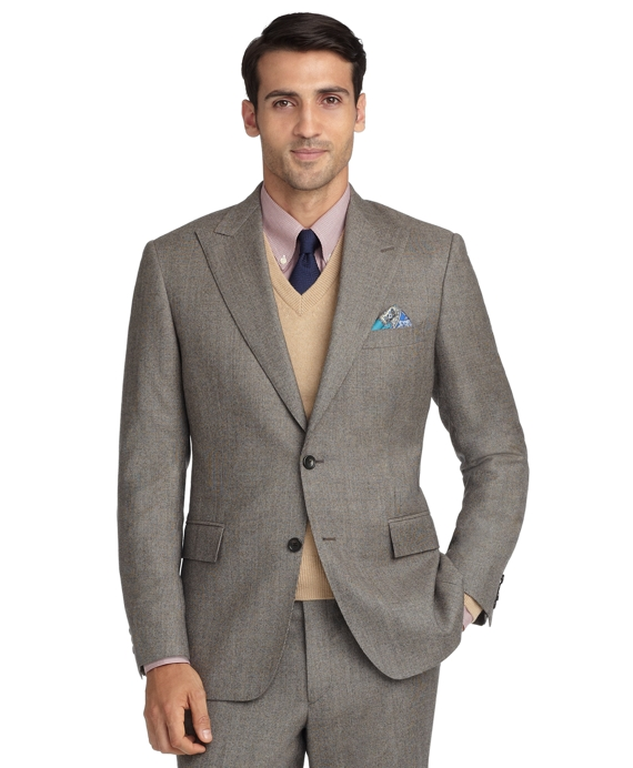 Regent Fit Tic 1818 Suit Brown