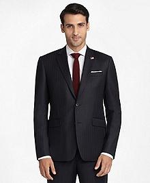 Milano Fit Saxxon Wool Pin-Dot Stripe 1818 Suit
