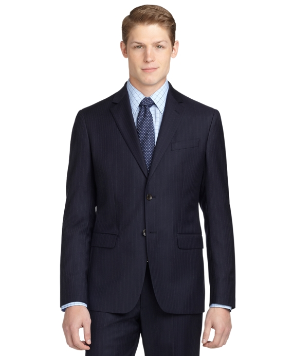 Milano Fit Stripe 1818 Suit Blue