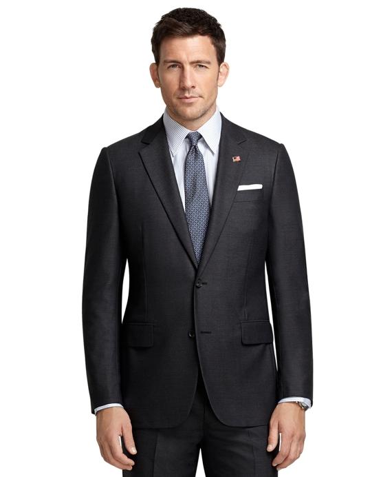 Fitzgerald Fit Saxxon Golden Fleece® Mini Herringbone Suit Grey