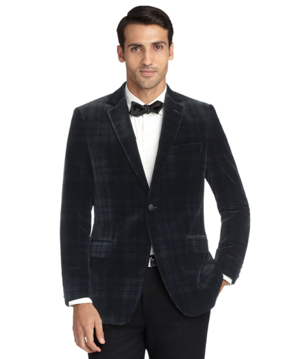 Fitzgerald Fit Velvet Blackwatch Tuxedo Jacket