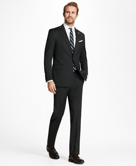 Regent Fit Stripe 1818 Suit Grey