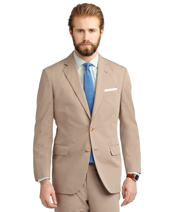 Madison Fit Poplin Suit Khaki