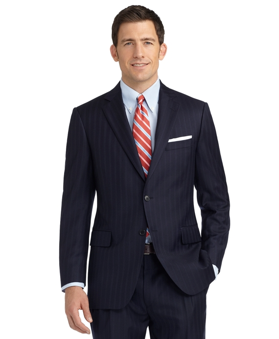Madison Fit Alternating Track Stripe 1818 Suit Navy