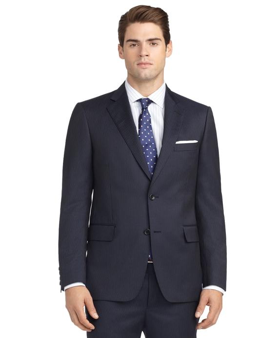 Regent Fit Mini Bead Stripe 1818 Suit Blue