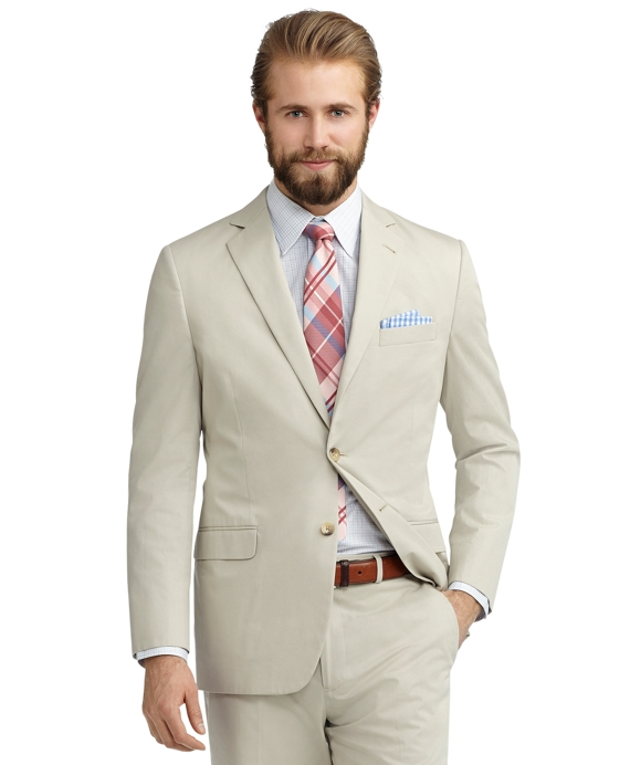 Fitzgerald Fit Twill Suit Stone