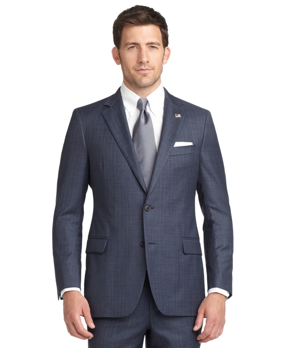 Fitzgerald Fit Sharkskin with Dark Deco 1818 Suit Blue