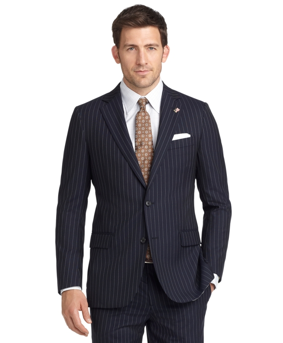 Fitzgerald Fit Bead Stripe 1818 Suit Navy