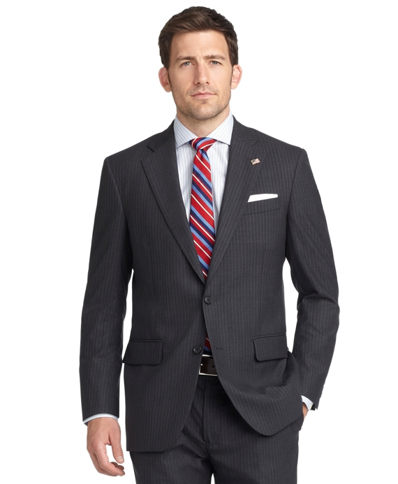 Madison Fit with Shadow and Mini Bead Stripe 1818 Suit Charcoal