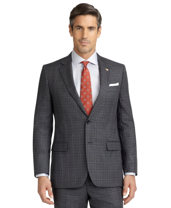 Fitzgerald Fit Plaid with Deco 1818 Suit Grey
