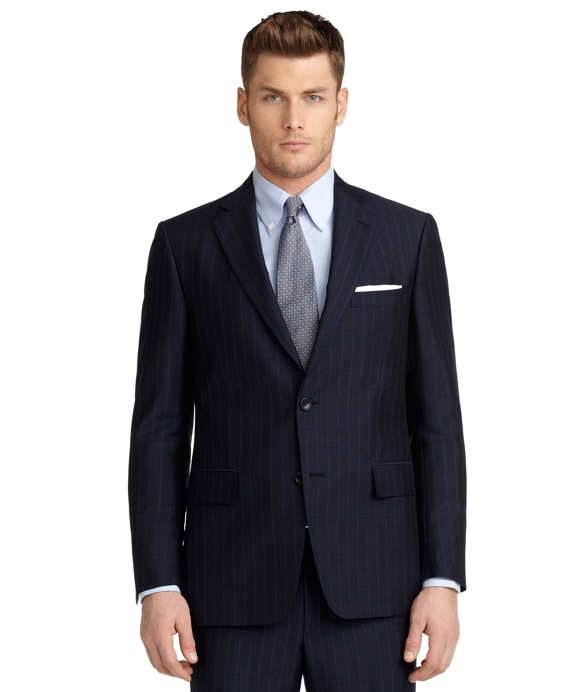 Regent Fit Tonal and Micro Bead Stripe 1818 Suit Navy