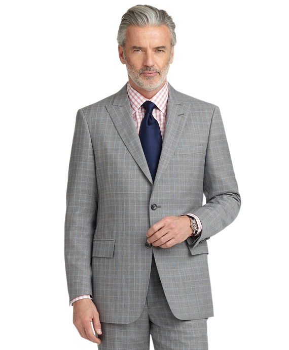 Regent Fit Plaid with Deco 1818 Suit Grey-Blue