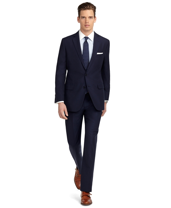 Fitzgerald Fit Solid Navy Suit - Brooks Brothers