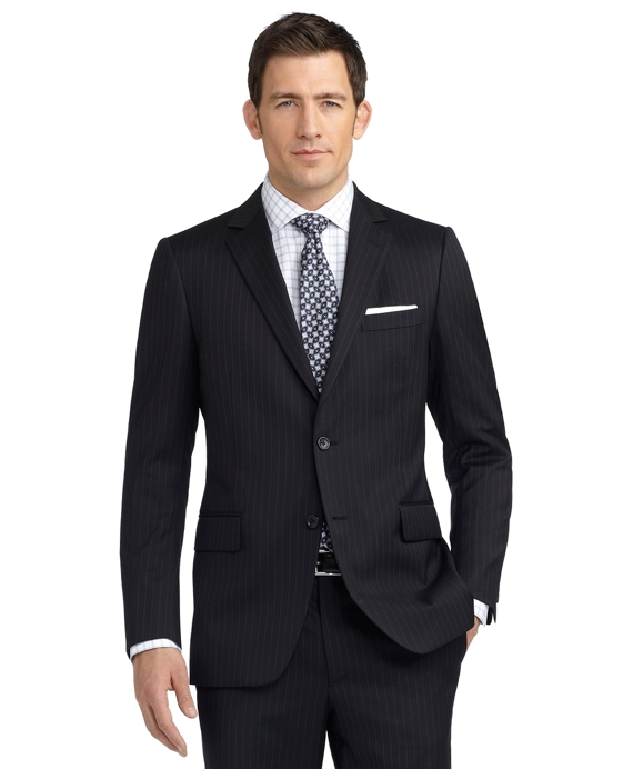 Fitzgerald Fit Rope Stripe 1818 Suit Black
