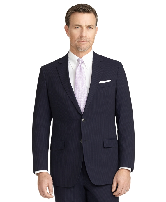 BrooksCool® Fitzgerald Fit Micro Bead Stripe Suit Navy