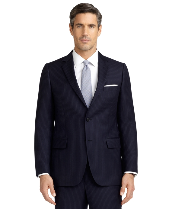 Fitzgerald Fit Alternating Mini Rope Stripe 1818 Suit Navy