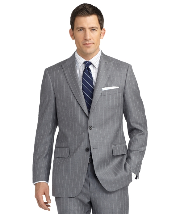 Madison Fit Mini Bold Double Stripe 1818 Suit Grey