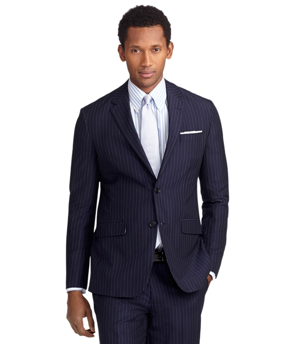 Milano Fit Navy Stripe Suit Navy