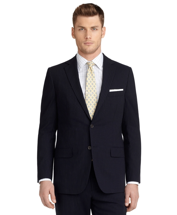 BrooksCool® Fitzgerald Fit Micro Bead Stripe 1818 Suit Navy