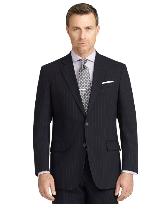 BrooksCool® Madison Fit Chalk Stripe Suit Navy