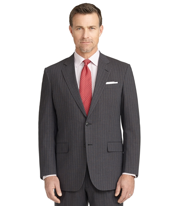 BrooksCool® Madison Fit Micro Bead Stripe Suit Grey