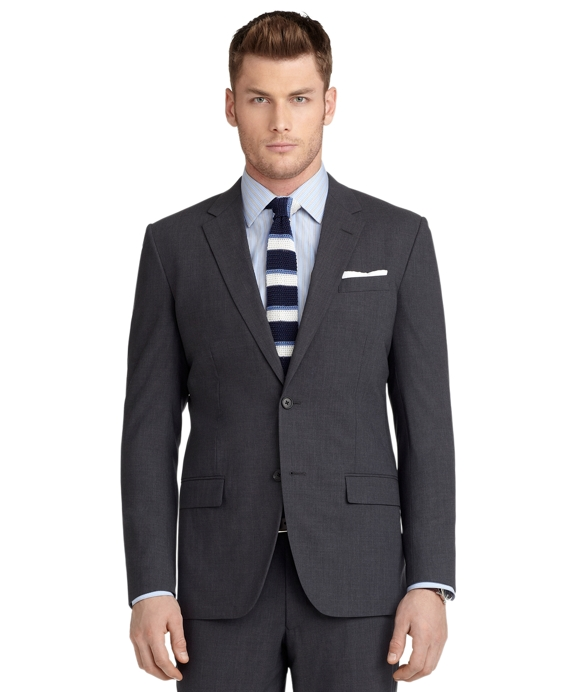 Milano Fit BrooksCool® Solid Grey Suit Grey