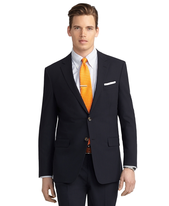 Milano Fit BrooksCool® Solid Navy Suit Navy
