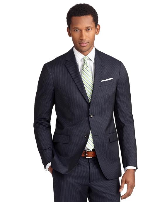 Milano Fit Mini Bead Stripe 1818 Suit Blue