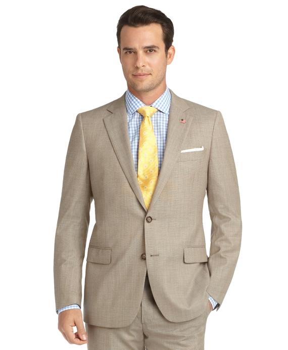 Fitzgerald Fit Pin Dot 1818 Suit Tan
