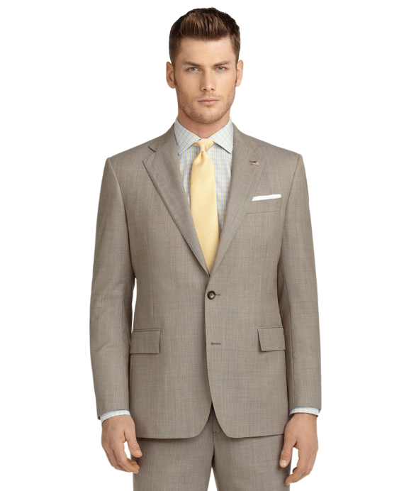 Regent Fit Pin Dot 1818 Suit Tan