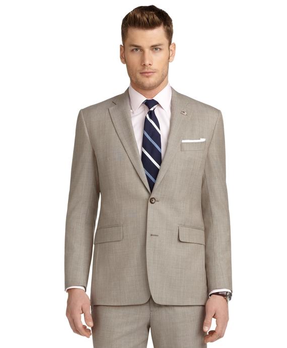 Milano Fit Tan Pin Dot 1818 Suit Tan