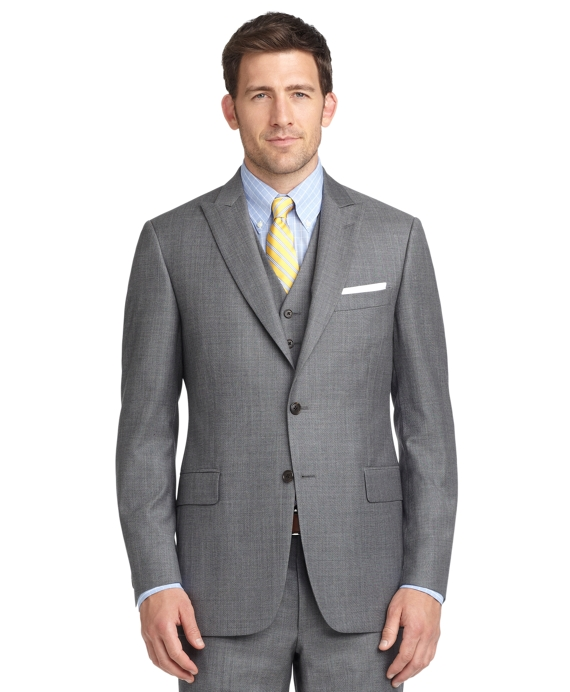 Madison Fit Sharkskin Three-Piece 1818 Suit Grey