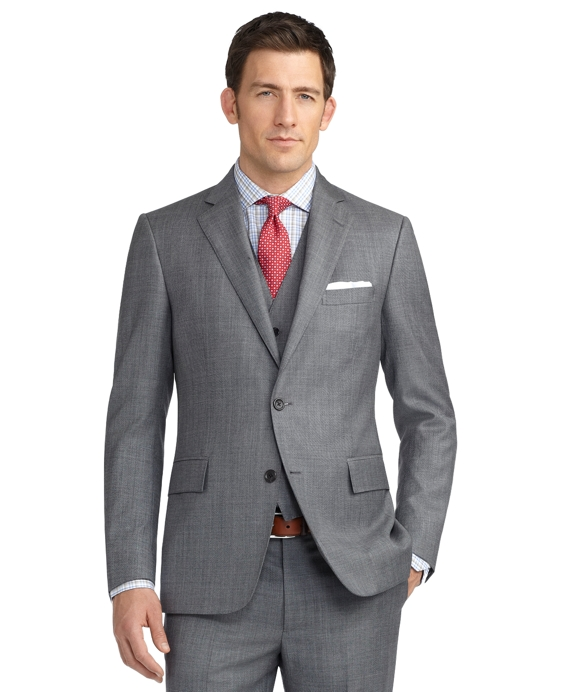 Regent Fit Sharkskin Three-Piece 1818 Suit Grey