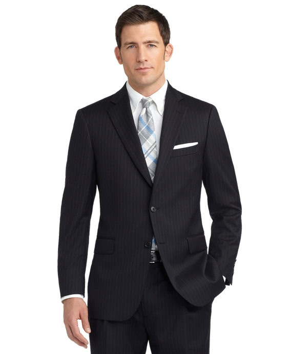 Madison Fit Rope Stripe 1818 Suit Black