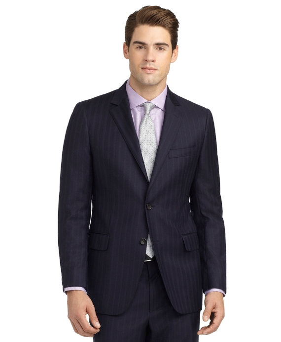 Fitzgerald Fit Alternating Track Stripe 1818 Suit Navy