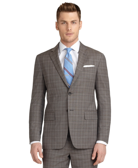 Milano Fit Plaid with Deco 1818 Suit Brown