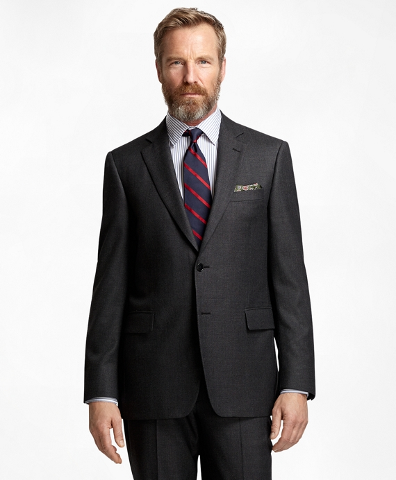 Madison Fit Charcoal Bird's-Eye 1818 Suit Charcoal
