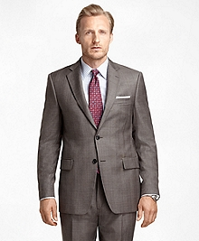 Madison Fit Plaid Brown Plaid with Blue Deco 1818 Suit