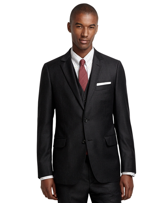 Fitzgerald Fit Tattersall Three-Piece 1818 Suit Grey