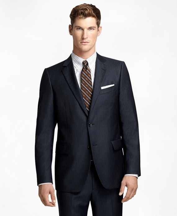 Fitzgerald Fit Narrow Tonal Stripe 1818 Suit Navy