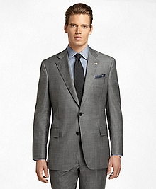 Regent Fit Saxxon Wool Sharkskin with Windowpane 1818 Suit