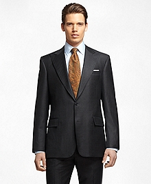 Regent Fit Saxxon Wool Bead Stripe 1818 Suit