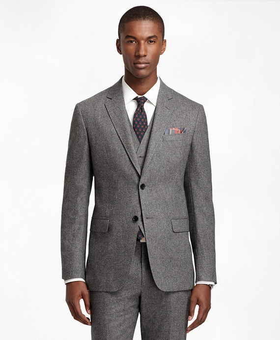 Milano Fit Donegal Tweed Three-Piece 1818 Suit Grey
